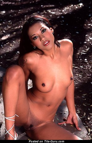 Image. Lily Thai - sexy naked asian with small natural tits and big nipples image