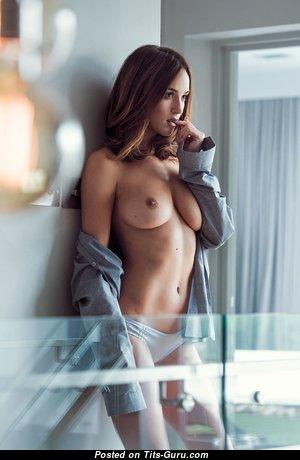 Topless brunette photo