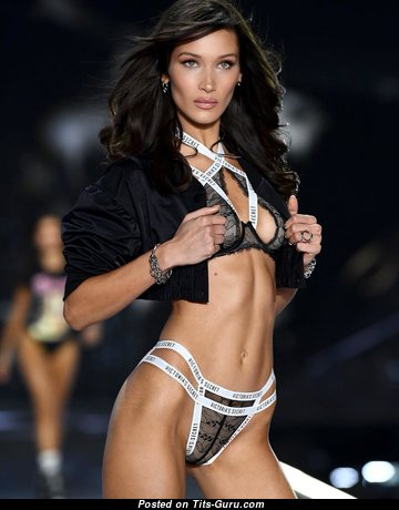 Bella Hadid & Perfect Non-Nude & Topless American Brunette & Blonde Babe, Bride & Actress with Perfect Real D Size Titty, Huge Nipples, Sexy Legs in Panties & Lingerie (Hd Porn Image)