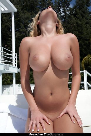 Image. Nude blonde with big breast image