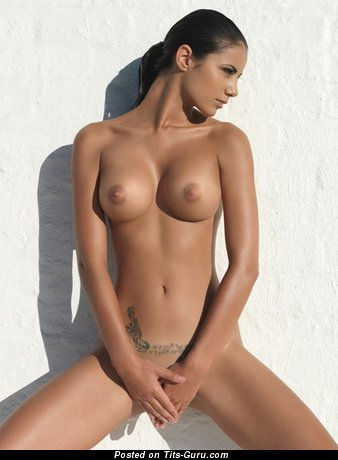 Image. Johanna Lundback - naked brunette with medium tits image