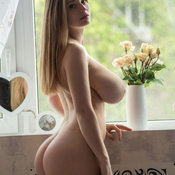 Blonde with huge boobs photo