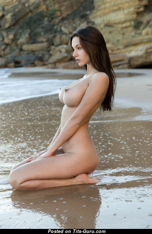 Alisa I - Gorgeous Russian Red Hair Babe with Gorgeous Naked Natural Dd Size Jugs on the Beach (Hd Sexual Picture)