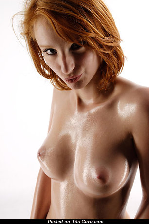 Delightful Topless Red Hair with Alluring Nude Real Breasts & Red Nipples (Hd Xxx Picture)