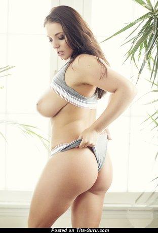 Angela White - Fine Australian Pornstar with Fine Bald Real Firm Chest (Hd Porn Wallpaper)