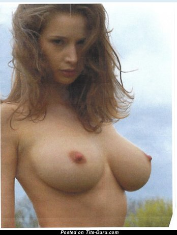 Topless beautiful lady with natural tits image