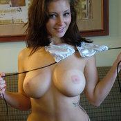 Hot woman with natural tittes picture