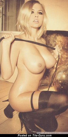 Image. Nude blonde with big boobies photo