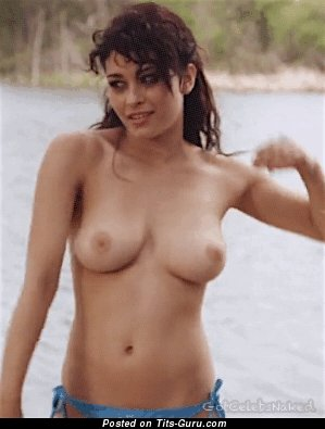 Image. Beautiful lady with medium natural boobies gif