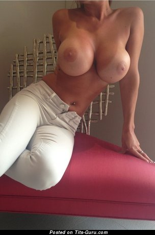 Sexy nude hot female with medium fake tittes image