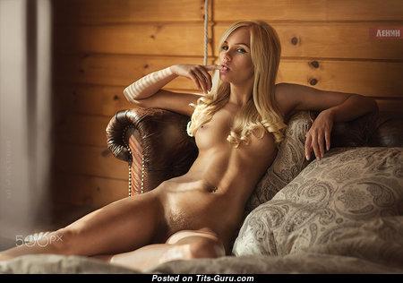 Dasha Snezhnaya - Splendid Blonde with Splendid Naked Real Medium Boobie (Sexual Photoshoot)