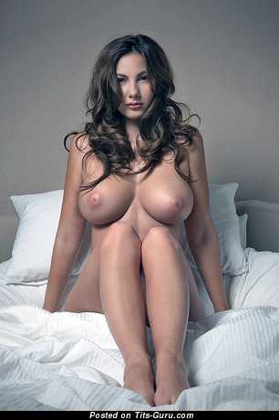 Image. Connie Carter - sexy nude brunette with big natural tittes photo