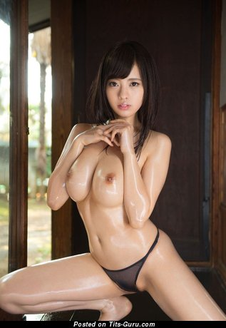 Image. Risa Kasumi - sexy topless asian with natural boob image