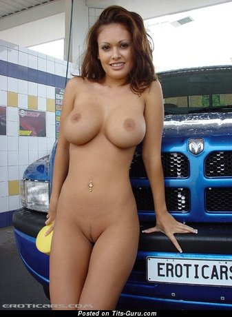 Krysta Z: amateur nude awesome female with medium fake breast pic