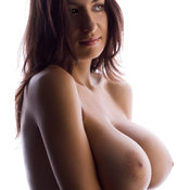 Hot woman with big natural breast image