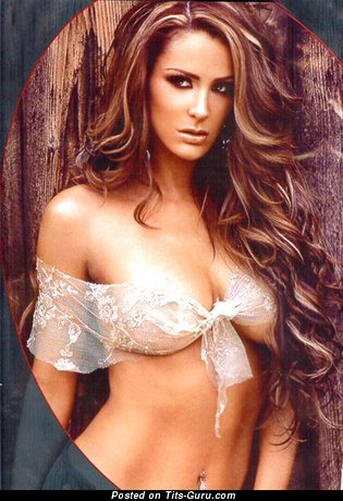 Ninel Conde - Fascinating Mexican Red Hair Actress with Fascinating Bald Normal Boob (Hd Sex Image)