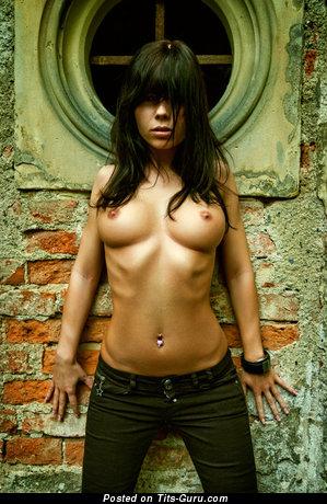 Image. Nice girl with medium tots photo