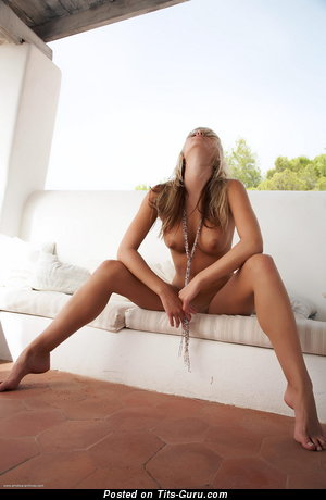 Image. Danae - nude blonde with big natural boob picture