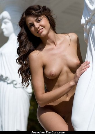 Image. Naked nice girl with medium natural boobies picture