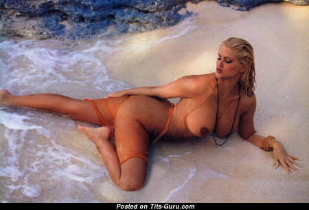 Anna Nicole Smith - Dazzling American Playboy Blonde Actress with Dazzling Defenseless Regular Melons (Hd Porn Image)
