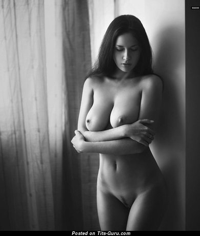 Splendid Brunette Babe with Splendid Open Natural Soft Busts (Xxx Wallpaper)