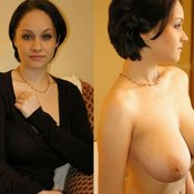 Hot lady with natural breast image