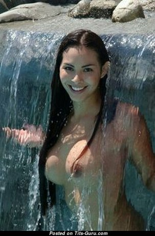 Sweet Wet Brunette with Sweet Nude D Size Melons (18+ Photoshoot)