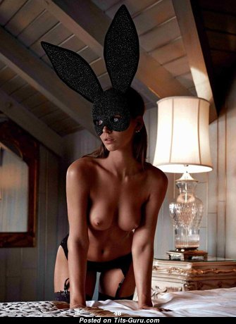 Marvelous Glamour & Topless Playboy Brunette Babe with Huge Nipples, Sexy Legs in Shorts & Panties is Undressing (Amateur Hd Sex Picture)