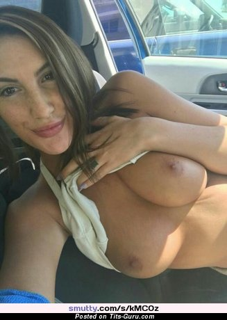 August Ames - Good-Looking Canadian Brunette Babe & Pornstar with Good-Looking Nude Real Soft Tittes, Giant Nipples, Piercing & Tattoo (Xxx Photo)