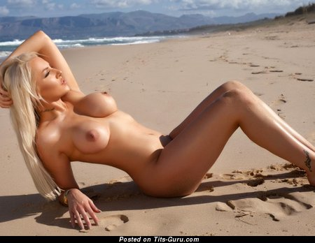 Yasmin - Pleasing Blonde with Pleasing Bare Normal Titties (Sexual Picture)