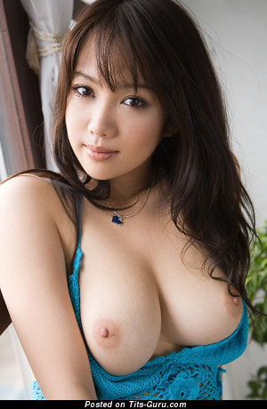 Handsome Asian Brunette with Handsome Exposed Real Mega Hooters (Hd 18+ Photoshoot)