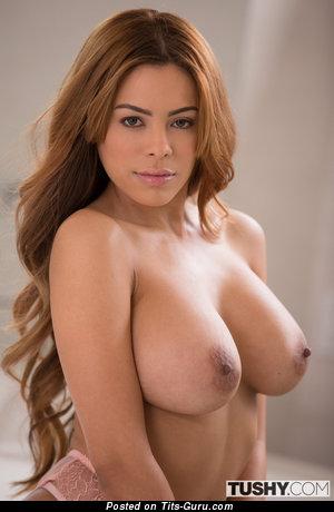Luna Star - Pleasing Cuban Red Hair with Pleasing Nude Dd Size Tit (Hd Sex Foto)