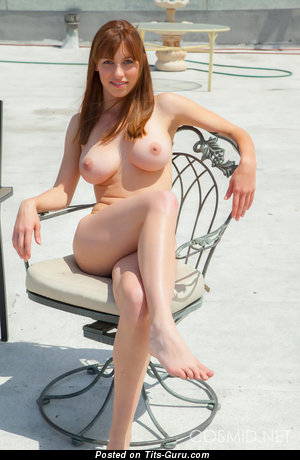 Image. Sexy naked red hair with big natural boob image
