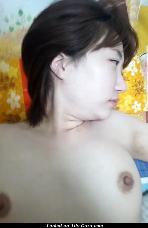 Kirana Nesa - Splendid Asian Lassie with Cute Bald Real Boobys & Erect Nipples (Home Hd Xxx Photo)