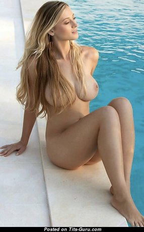 Yummy Unclothed Blonde Babe with Sexy Legs in the Pool (Hd Xxx Image)