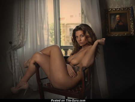 Image. Sexy nude hot girl with medium natural tittys image