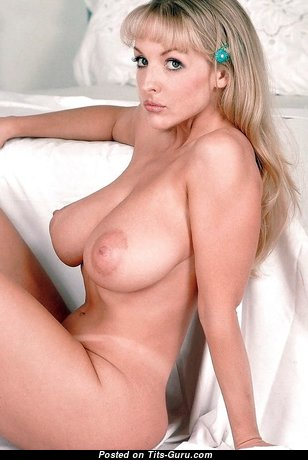 The Best Blonde Babe with The Best Bald Natural Tits (Sexual Wallpaper)