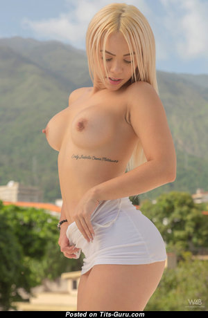 Chichi Yovana - Cute Topless Female with Cute Nude Round Fake Hooters (Hd Sexual Pic)