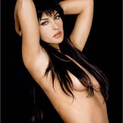 Monica Bellucci - sexy brunette with medium natural tittys photo