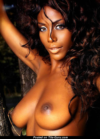 Ainett Stephens - sexy nude ebony with medium natural boobs image