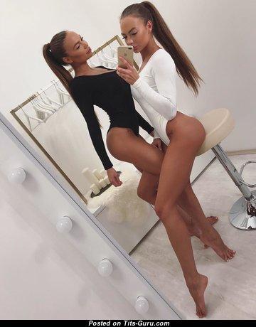 Stunning Undressed Brunette Girlfriend, Babe, Gymnastic & Dancer with Sexy Legs (Hd Xxx Pic)