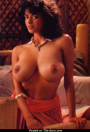 Image. Roberta Vasquez - sexy topless brunette with big natural tittys and big nipples vintage