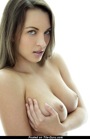 Image. Naked wonderful woman with natural boobs image