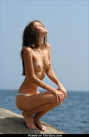 Image. Nude amazing lady with small natural tots photo