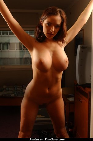 Image. Naked brunette with big natural tittes pic