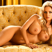 Cassandra Lynn - blonde with big fake boob photo