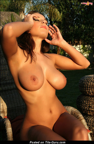 Image. Erica Campbell - naked brunette with medium natural breast picture