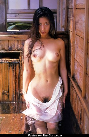 Suzee Pai - Beautiful Topless Asian Brunette (Vintage Sexual Photo)