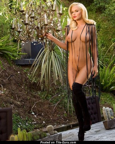 Jenny Mccarthy - Grand Topless & Wet American Playboy Blonde Actress with Grand Defenseless Real Average Balloons & Puffy Nipples (Vintage Porn Image)