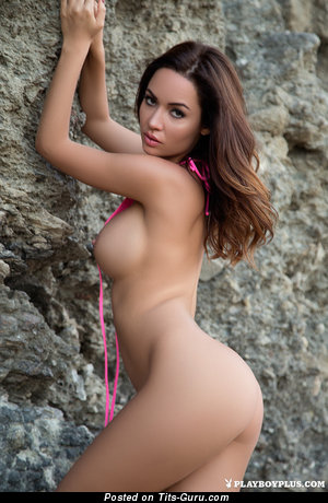 Adrienn Levai - The Nicest Hungarian Playboy Brunette with Graceful Bald Medium Sized Boobs (Hd Porn Photo)